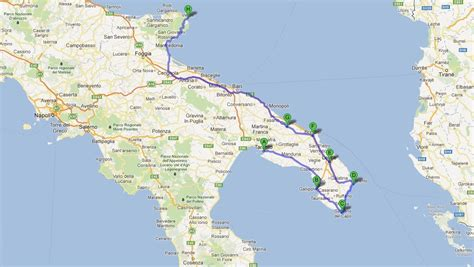 Carte Sud De Et Italie by Italie Du Sud Voyages Cartes