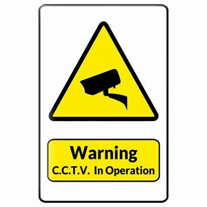 Cctv Symbol Warning Sign Camera Clipart Triangle