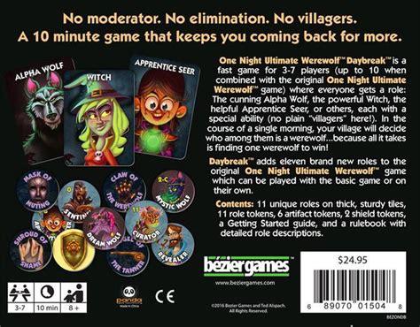 night ultimate werewolf daybreak bezier games