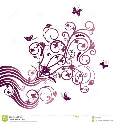 clipart fiore ornamento d angolo viola della farfalla e fiore