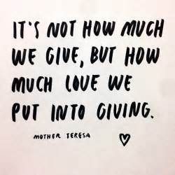 teresa quotes on giving quotesgram