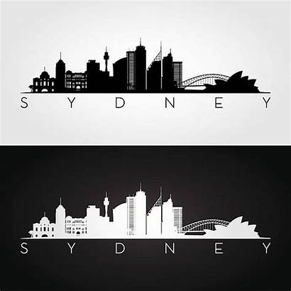 Sydney Skyline Silhouette Vector Clip Illustration Illustrations