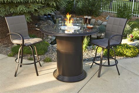 fire pit bar table outdoor greatroom colonial fiberglass 48 round grand