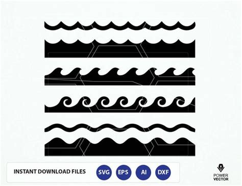 Waves Clipart Files. Waves Svg File. Wave Png. Wave Cricut