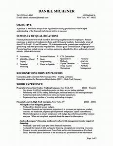 Best financial analyst resume example recentresumescom for Entry level finance resume