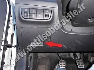 Obd2 Connector Location In Hyundai Veloster  2011