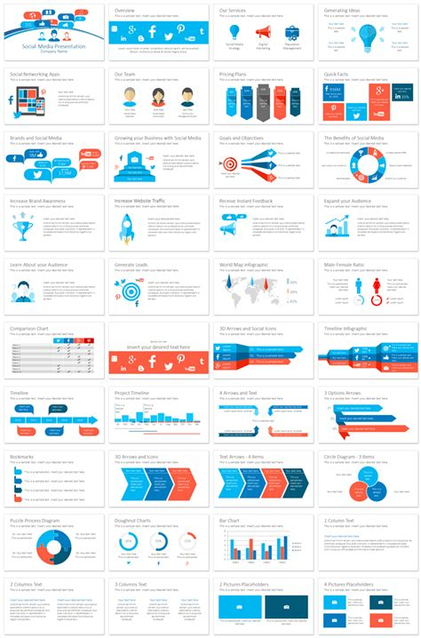 social media concept powerpoint template
