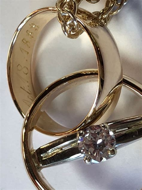 wedding rings to wear as pendant r h weber jewelry llc