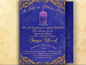 54 best bridal shower and bachelorette party invitations With beauty and the beast wedding invitations wording