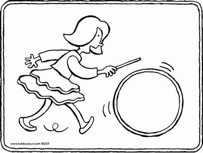 Hoop Coloring Hula Pages Colouring Emma Getcolorings