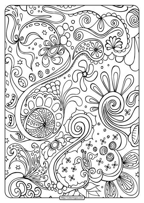 printable abstract  coloring page