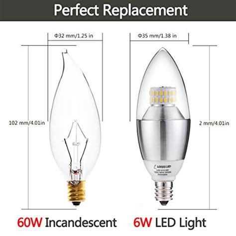 pack of 3 174 lohas dimmable led candelabra bulb 6 watt