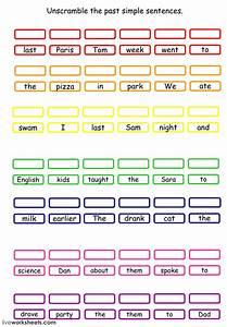 Past Simple Unscramble The Sentences Worksheet
