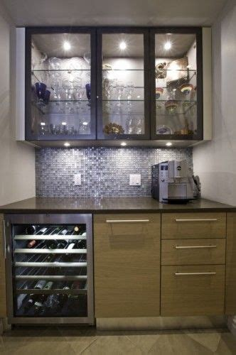 built in kitchen cabinet bar with wine cellar and glass doors for showing 4987