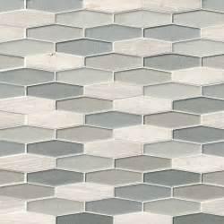 kitchen glass tile backsplash designs europa elongated hexagon glass and backsplash tile