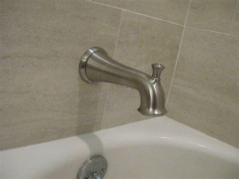 bathtub faucet from spout delta rp17453 single spout tub diverter terry