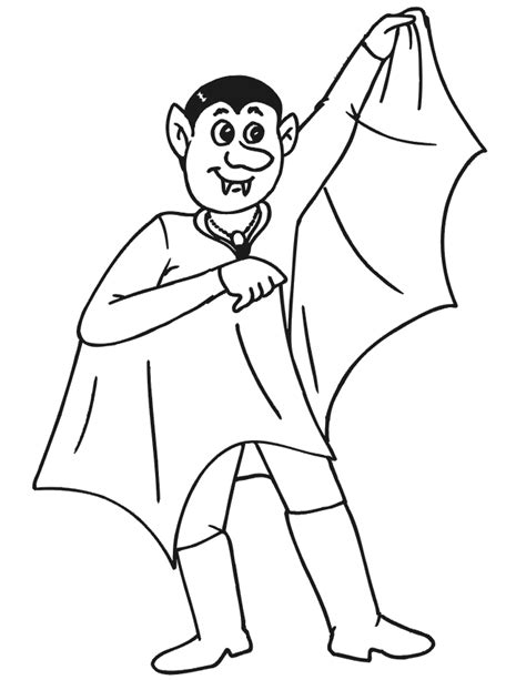 vampire coloring page guy dressed   vampire