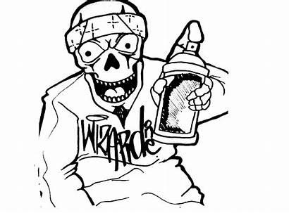 Skull Drawing Graffiti Clown Gangster Drawings Wizard