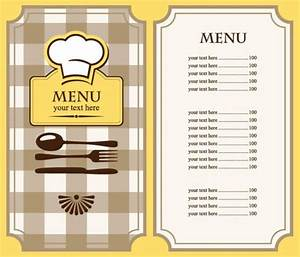 Free Restaurant Menu Template | Free EPS file Set of cafe ...