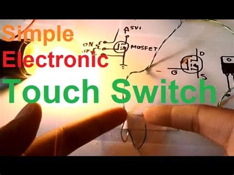 How To Make A Simple Touch Switch Circuit Youtube