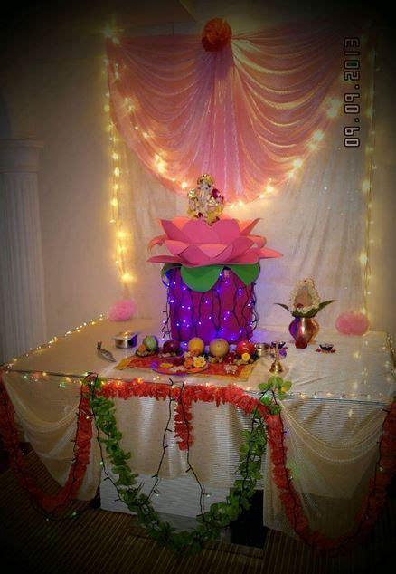 ganpati decoration ideas ganesh pooja creative