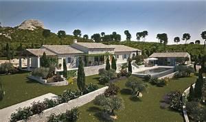 Un Mas En Provence : infographie 3d d 39 un mas proven al de prestige vincent ~ Farleysfitness.com Idées de Décoration