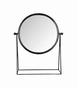 Miroir Metal Noir : miroir sur pied en m tal noir ~ Teatrodelosmanantiales.com Idées de Décoration
