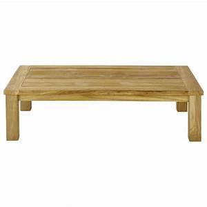 Maison Du Monde Table Jardin : table basse de jardin en teck l 130 cm belle ile maisons ~ Teatrodelosmanantiales.com Idées de Décoration
