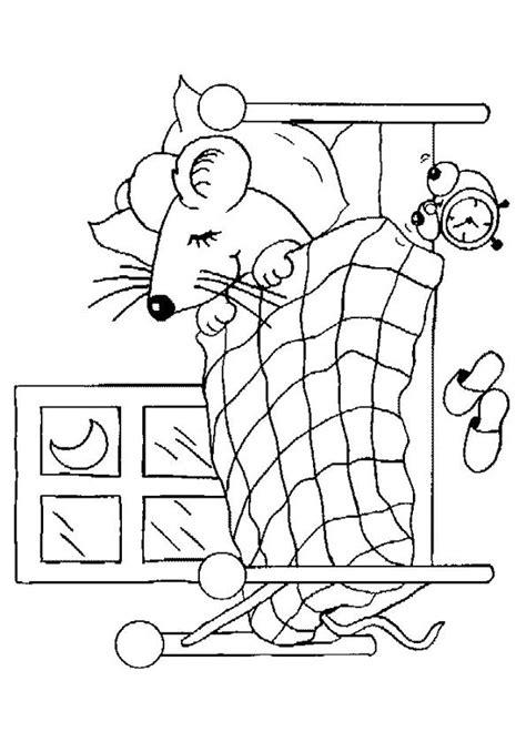 faire dormir bébé dans sa chambre image à colorier d une souris entrain de dormir