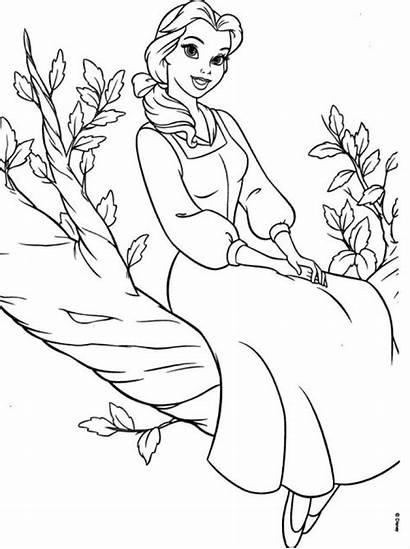 Coloring Princess Disney Belle Printable