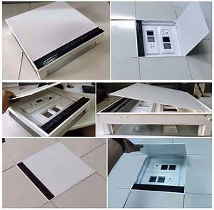 Electrical Floor Box  Aluminium Recessed Floor Box Outlet With Sockets
