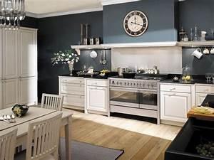 Deco Bois Et Blanc : couleurs autour cuisine beige rustique ~ Melissatoandfro.com Idées de Décoration