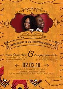 printable african wedding invitation card With ndebele traditional wedding invitations
