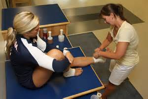 Woman Athletic Trainer Training