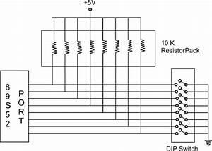 4 Dip Switch Interfacing To Microcontroller