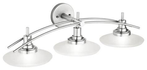 structures nickel  wide bathroom light fixture