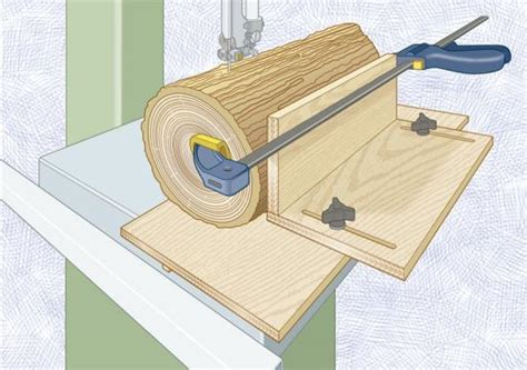 hold logs tight   ride  resaw jig wood magazine
