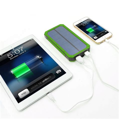 solar powered phone solar phone charger 10000 green