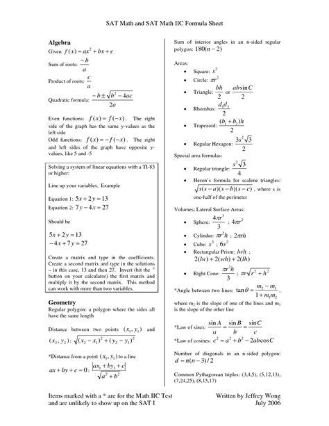 sat math practice problems  answers sat math