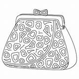 Purse Coloring Pages Handbag Printable Purses Colouring Hat Society Template Easter sketch template