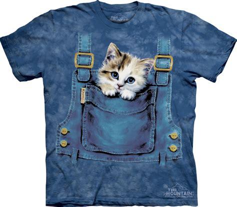 kitty shirt pocket kitten adult tie dye tee  shirt cat