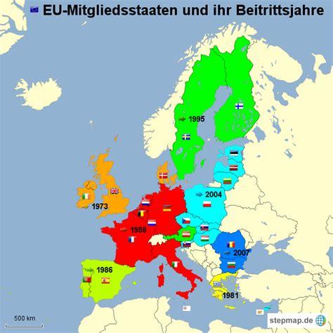 stepmap eu mitgliedsstaaten und ihre beitrittsjahre