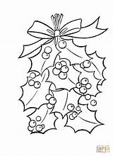 Holly Coloring Leaves Berries Pages Christmas Bright Mistletoe Ben Printable Supercoloring Leaf Merry Decoration Tree Xmas Easy Getcolorings Quotes Colouring sketch template