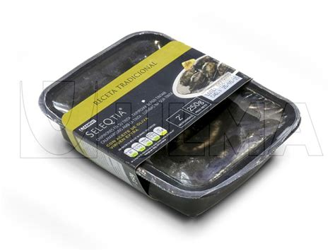 Modified Atmosphere Packaging Cooked by Cooked Cuttlefish In Their Own Ink Packaging In