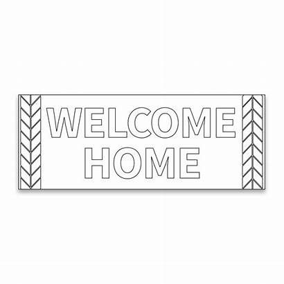 Coloring Banner Missionary Welcome Wheat Ldsbookstore Banners