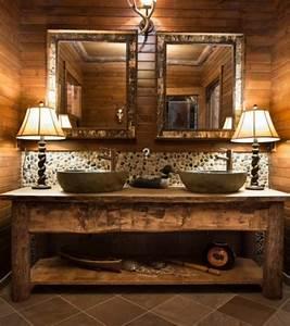 Holz Im Badezimmer : rustikale badm bel ideen das badezimmer im landhausstil ~ Lizthompson.info Haus und Dekorationen