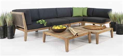 ventura reclaimed teak furniture set deep seating