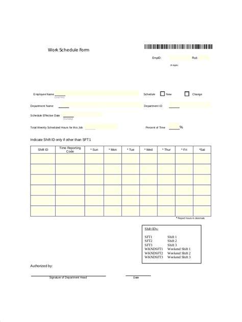 employee schedule examples samples  google
