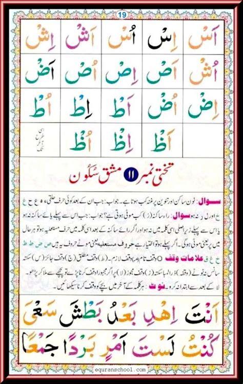 page 19 read noorani qaida free quran teaching academy