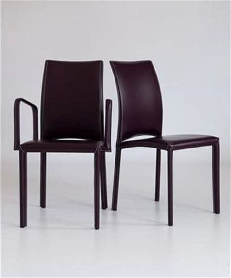 chair with armrests fully upholstered in leather for